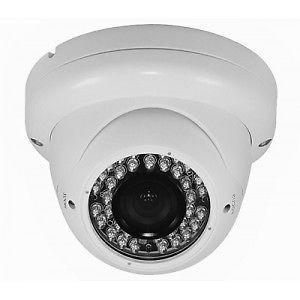 Telecamera dome 24 led ccd colori soffitto bianca