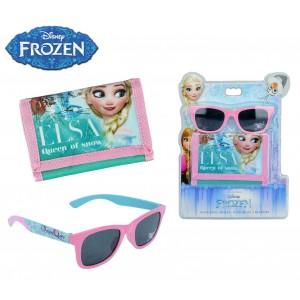 WD17039 Set Frozen occhiali da sole e portafogli accessori bambine