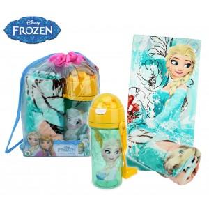 WD17015 Kit da spiaggia principessa Elsa di Frozen zaino, borraccia e telo mare