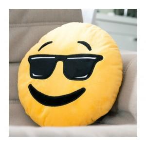 621042 Cuscino emotion con occhiali da sole emoji pillow faccine idea regalo