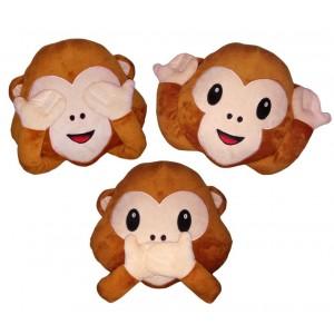 621048 Cuscino emotion scimmietta -non vedo- emoji pillow faccine diametro 30 cm