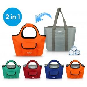 2953AN Borsa termica FREE-GO 2 in 1 shopper e borsa frigo in vari colori