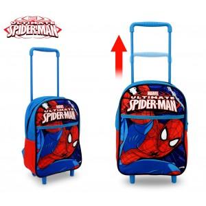 SP16106 Zaino a spalla con trolley Spiderman scuola 34x25x15 cm