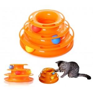 560021 Gioco interattivo per gatti a torre circolare con palline