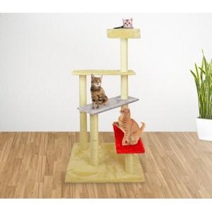 HK1038 Palestra tiragraffi per gatti a scala con colonne in sisal 110 cm