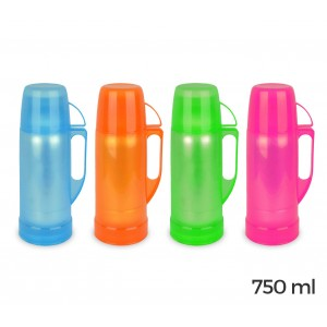 3216 Thermos per bevande welkhome rivestito in plastica colorata 750 ml