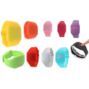 Orologio da polso touch digitale led in gomma unisex bracciale in silicone watch
