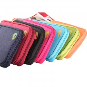 Porta documenti da viaggio borsa organizer multifunzione multitasche vari colori
