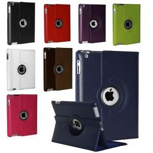 Cover custodia per Ipad 2-3-4 apple compatibile eco pelle rotante 360 gradi supporto girevole Business