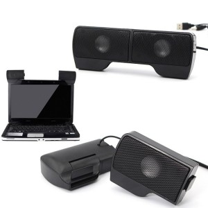 Mini casse speaker USB per laptop pc 6 W portatile con regolazione volume jack 3.5 mm