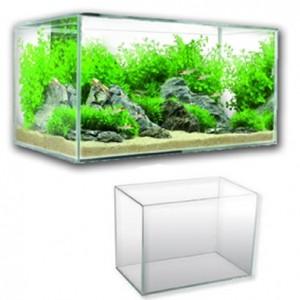 Acquario rettangolare 25 litri 45x21x26(h)cm + accessori