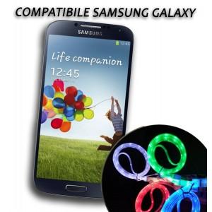 Cavo dati usb luminoso caricabatteria compatibile Samsung Galaxy vari colori
