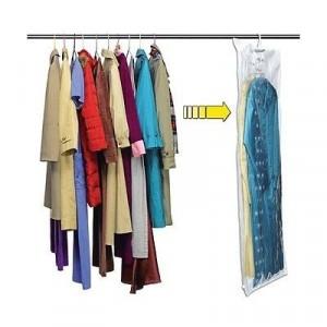 Sacco sacchetto sottovuoto organizer per vestiti con gancio per armadi custodia indumenti salvaspazio appendi abiti