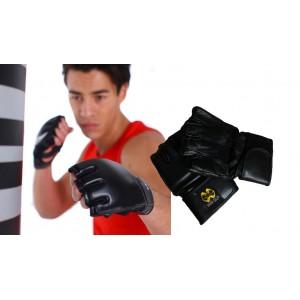 Mezzi guanti da boxe MMA pugilato allenamento al sacco fit boxe aeroboxe kickboxing in vera pelle guantoni