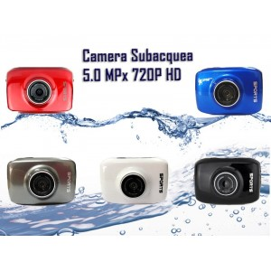 Action camcorder mini camera sport subacquea HD 5.0MPx lcd 2.0 pollici touchscreen + accessori
