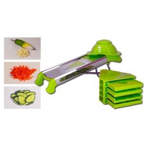 Tagliaverdure a grattugia affetta verdure manuale con lama di precisione grattugia taglio da 4 a 12 mm