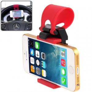 Supporto da volante fissaggio elastico per smartphone e dispositivi elettronici regolabile mani libere