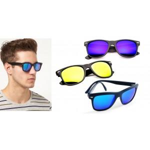 Occhiali da sole con lenti a specchio colorate modello IBIZA unisex semi quadrata Sunglasses
