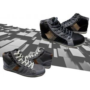 Scarpe sneaker uomo modello GRAFITE con punta tonda e suola antiscivolo e cerniera laterale