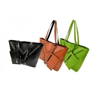 Borsa a mano shopping bag modello Yvonne da spalla donna