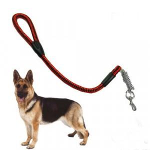 Guinzaglio per cani in corda di nylon resistente e robusto con moschettone in metallo 80 cm