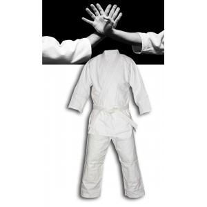 Kimono tessuto a grana di riso per arti marziali ideale aikido karate judo per principianti e agonisti