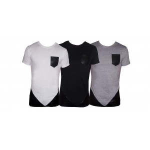 Maglia MWS Ahead mod. FUSION uomo mezza manica t-shirt con tessuti a contrasto