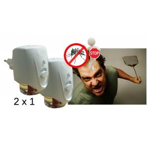 Insetticida elettrico a ricarica liquido inclusa 2x1 dispositivo repellente antizanzare