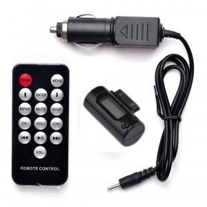Trasmettitore fm mp3 compatibile iphone 3GS 4G IPod nano con telecomando