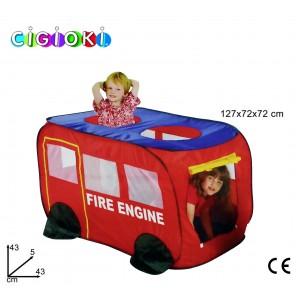 Tenda da gioco dei vigili del fuoco tenda per bambini a forma di camioncino dei pompieri