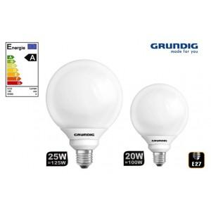 Lampadina Grundig classe A con attacco E27 Luce bianca fredda 6500K da vari watt
