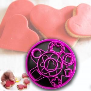 Set 13 pezzi formine per biscotti in plastica colorata torte cake design