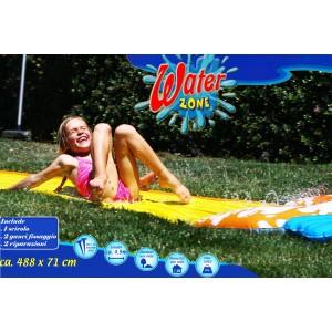 Scivolo ad acqua per bambini e adulti 488 x 7 cm tappeto acquatico water zone