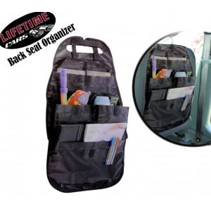Organizer per sedile posteriore auto 4 tasche con velcro tessuto impermeabile paracolpi antipedata