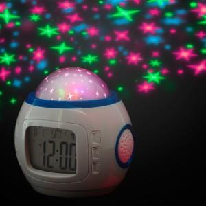 Sveglia digitale con datario temperatura illuminazione proiezione di stelle display LCD