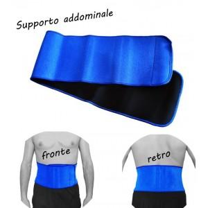 Fascia elastica in neoprene addominale unisex con velcro supporto tutore dimagrante ventre piatto