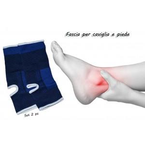 Coppia di 2 fasce elastiche per caviglie e piede ideale per sovraccarico articolare e sport