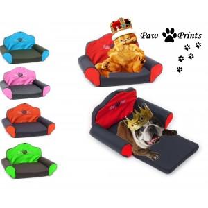 Poltrona per animali domestici sofà cani e gatti divanetto con pedana allungabile