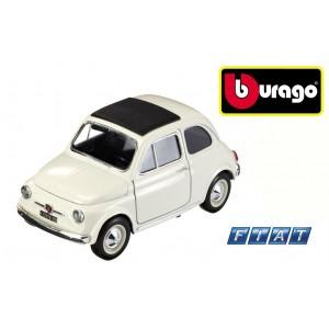 Modellino auto Bburago street fire FIAT 500 BIANCA  macchina d'epoca da collezione scala 1: 43