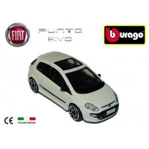 Modellino auto Bburago street fire FIAT PUNTO EVO BIANCA da collezione scala 1: 43