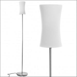 Lampada da terra lifetime modern design con abat-jour in vetro 146 x 19,5 cm inclusa lampadina da 9 watt