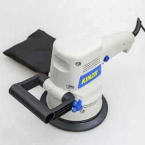 Levigatrice orbitale manuale 380 watt con maniglia laterale e sacchetto per la polvere