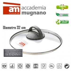 Coperchio in vetro 32 cm Accademia Mugnano Linea CUORE DI PIETRA Mineral Stone