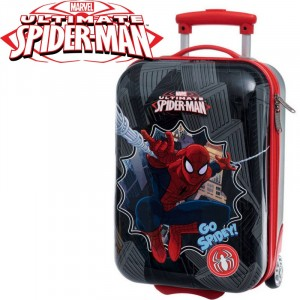 Trolley da viaggio Spiderman valigia ABS rigida  20 x 34 x 55 cm bagaglio a mano Marvel