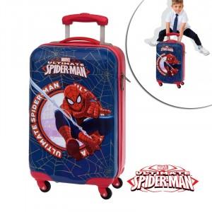 Trolley da viaggio mod blu Spiderman valigia ABS rigida  4 ruote x 34 x 55 cm bagaglio a mano Marvel