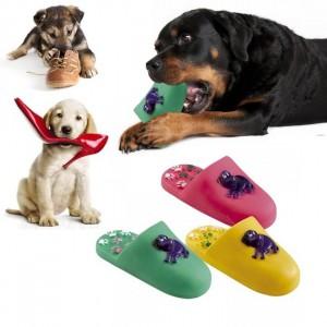 Gioco per animali domestici ciabatta in gomma morbida per cani e gatti pantofola da mordere