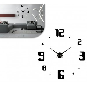 Orologio adesivo VESTIAMO CASA da parete 3D in gommapiuma design moderno componibile