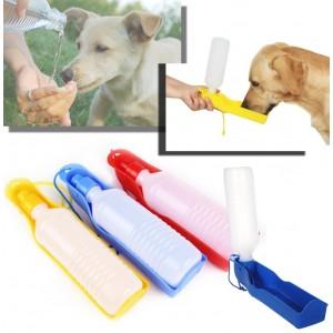 Borraccia con scodella incorporata portatile per cani e gatti bottiglia 300 ml beccuccio salvagoccia