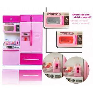 Mini cucina moderna con effetti luminosi e sonori  con tanti accessori La mia splentida cucina