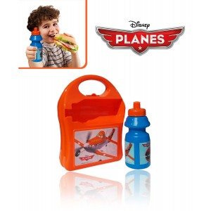 Kit portamerenda scuola DUSTY PLANES borraccia piu' box porta sandwich Disney 553-20255